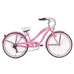 Micargi Rover 7-Speed Beach Cruiser Bike, Pink, 26-Inch - http://www.bicyclestoredirect.com/micargi-rover-7-speed-beach-cruiser-bike-pink-26-inch/