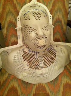 Last year I had no clue what this was. This year I am able to fabricate this radiation mask on my own.. progress!!