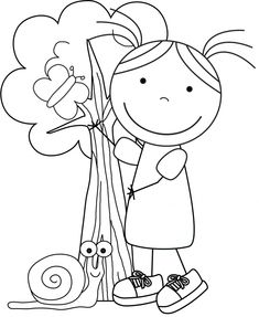Kid Color Pages: Earth Day for Girls with Earth Day Facts