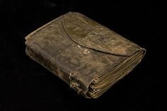 An Icelandic book of homilies, bound in sealskin leather. The spine has wound strips of skin which are a part of the stitching. More details at the   Kungliga biblioteket Flickr page.