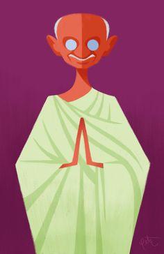 Mahatma Gandhi © Peter Emmerich via http://peteremmerich.blogspot.com