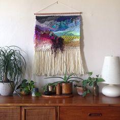CUSTOM weaving for Amanda Heartbreak woven wall hanging by Maryanne Moodie