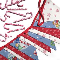 Christmas Bunting  RETRO style Angels with by MerryGoRoundHANDMADE