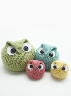 PATTERNFISH - Chubby Owl Family (crochet)