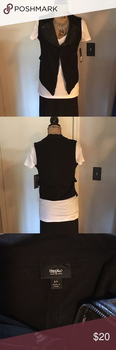 Mossimo moto vest Brand new mossimo for target vest. Never worn. There is a snap closure detail on front or can be left open. Faux leather detail on collar. Mossimo Supply Co. Jackets & Coats Vests