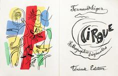 Cirque. Title. Artist: Fernand Léger. Author: Fernand Léger. Publisher: Tériade, Paris, 1950. Size: 45×34 cm