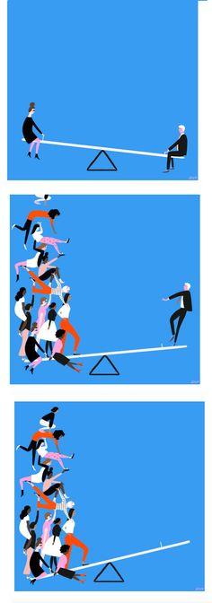 amazing feminist illo inspired by #metoo movement by Libby Vanderploeg #illustration