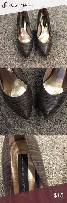 Steven by Steve Madden heels Faux skin Steve Madden heels. Good used condition, see photos for pictures of wear. Appx 4in heel with 1in platform Steven By Steve Madden Shoes Heels