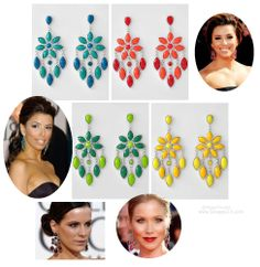 "BIG Chandelier Earrings | Celebrity Inspired | 3 1/4"" Long 