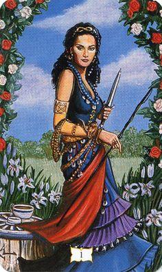I. The Magician - The Buckland Romani Tarot by Lissanne Lake, Raymond Buckland