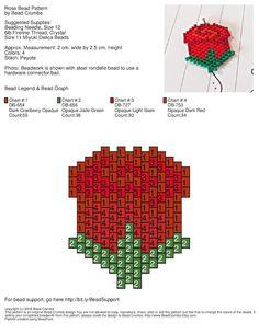 Rose-Perlen-Muster