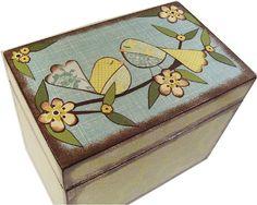Receta Decoupaged caja tiene 4 x 6 tarjetas por GiftsAndTalents