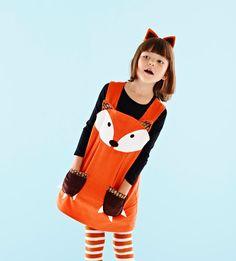 Fox Play Dress Costume for little girls in от wildthingsdresses