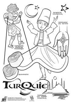 Coloriage Turquie, page 29 sur 43 sur HugoLescargot.com