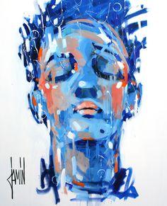 """""""Ondée"""" - acrylique sur toile - 100x81cm - année 2016"""