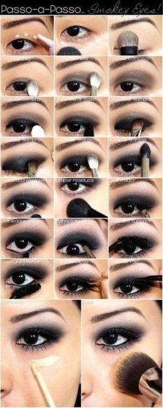 Black Smoky Eye Makeup Tutorial by melinda