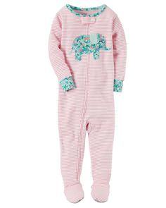 Baby Girl 1-Piece Snug Fit Cotton PJs | Carters.com
