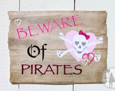 Pink Pirate Party Welcome Sign (Printable Edition):