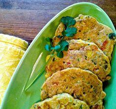 Zucchini Corn Fritters (GF) Vegan Burgers, Vegan Dinners, Healthy Dinners, Quick Meals, Savory Pancakes, Raw Food Recipes, Vegetarian Recipes, Fun Recipes, Recipe Ideas