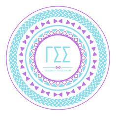 Gamma Sigma Sigma graphic tribal sorority