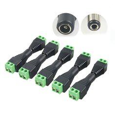 5 stks D2V Plug Adapter Connector Man Voor 5050 3528 LED Strip Licht Voeding Elektrische Apparatuur Levert Kwaliteit