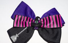 Halloween Girls Witch's Hat Hair Bow Handmade Unique Witch Halloween Girls Hair Bow by RachelsHairBowtique on Etsy