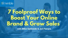 In this webinar, Mike Sadowski shares actionable digital marketing and sales tips you can implement immediately to boost your online brand, optimize your fun. Marketing Program, Sales And Marketing, Digital Marketing, Business Sales, Business Networking, Small Business Network, Social Networks, Social Media, Sales Tips