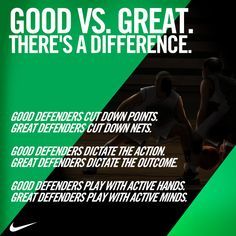 Twitter / nikebasketball: Good Defenders vs. Great ...