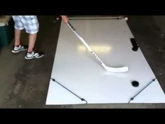 Homemade Hockey Skill Pad - YouTube                                                                                                                                                                                 More Dek Hockey, Hockey Shot, Hockey Drills, Hockey Players, Hockey Sticks, Hockey Crafts, Hockey Decor, Hockey Birthday, Diy
