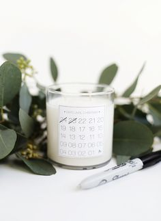 Simple yet effective diy christmas countdown candle