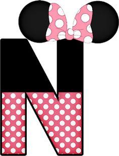 SGBlogosfera. María José Argüeso: Abecedarios de Dibujos famosos Minnie Mouse Stickers, Mickey E Minnie Mouse, Mickey Mouse Design, Minnie Png, Alfabeto Disney, Mickey Mouse Decorations, Disney Alphabet, Alphabet Templates, Diy Letters