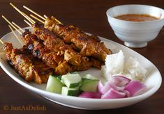 SATAY!! what can I say I mean it's a meat shish kabob how can you not like it. THE DIP IS A MUST.