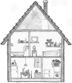 Knutselen en andere leuke ideeen met peuters en of kleuters rondom het thema mijn huis.