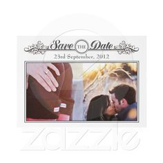 Vintage Black & White Save the Date Announcement from Zazzle.com