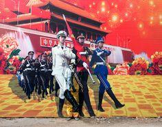 Performance Art - Three Goddesses by Liu Bolin in Beijing