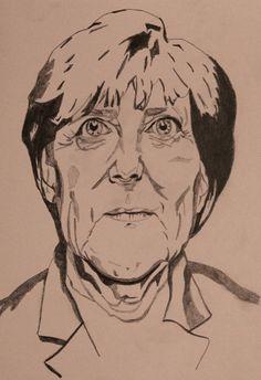 Angela Merkel on paper