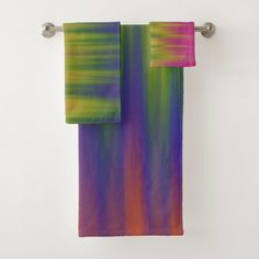 Trending Colorful Rainbow Delight Bath Towel Set - home gifts ideas decor special unique custom individual customized individualized