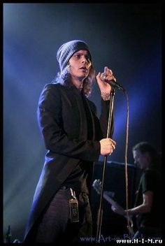 Ville Valo saw HIM  when Ville was dressed like this.....