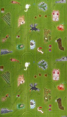 Afrikan Kuningatar Fabric Green // Kiitos Marimekko
