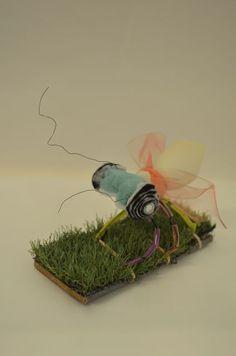 Insecten maken met flexibele materialen Jan Ligthartschool Rendierhof
