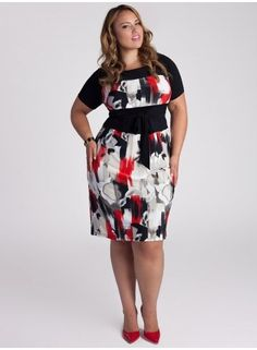Plus Size Dress Plus Size Women's Clothing Plus Size Fashion at www.curvaliciousclothes.com #bbw #plussize #fashion