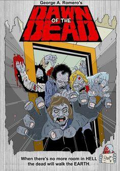 Dawn of the Dead fue estrenada el 2 de septiembre de 1978 en Italia, y el 20 de abril de 1979 en Estados Unidos.1 La película ha recibido una serie de reediciones debido principalmente a los derechos de Dario Argento de editar el filme para su estreno en el mercado internacional. Romero estuvo a cargo del montaje de la versión en inglés de la película, que tiene una duración de 139 minutos. Dicha versión fue reducida a 126 minutos para su estreno en Estados Unidos.13