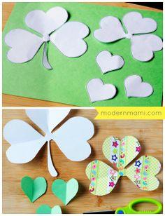 St. Patrick's Day Shamrock Crafts for Kids #StPatricksDay #kidscrafts