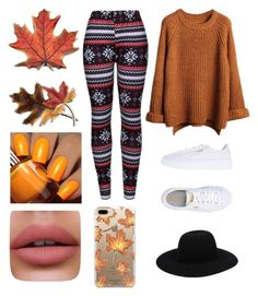 """autumn"" by samantazviedre ❤ liked on Polyvore featuring WithChic, Puma, Off-White, Casetify, Anne Klein and Floss Gloss"