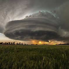 Severy, Kansas. Follow @wanderlust_tribe for more amazing travel inspiration.  A supercell over the town of Severy in Kansas, Would you love to see this one time in your life or would you be too scared? TAG a friend who'd run the other way! |  Photo Credit : © Jon Stone #Places_wow