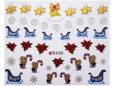 Condividi i nostri prodotti avrai uno sconto del 5 %,fai sapere che ci sei Nail Sticker Natale mod030