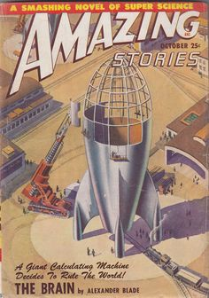 Amazing Stories PULP OCTOBER 1948 James B Settles rocket cover FREE USA SHIP