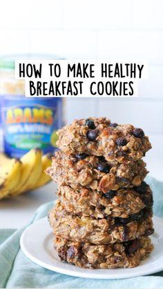 Healthy Oatmeal Breakfast, Oatmeal Breakfast Cookies, Breakfast Cookie Recipe, Healthy Oatmeal Cookies, Flourless Oatmeal Cookies, Easy Oatmeal Bars, Healthy Cookies For Kids, Blueberry Oatmeal Cookies, Vegan Baked Oatmeal