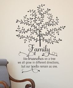 Family: Like branches on a tree we all grow in different directions, but our roots remain as one.