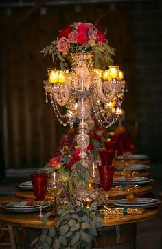 Candelabra wedding centerpice - Aida Malik Photography
